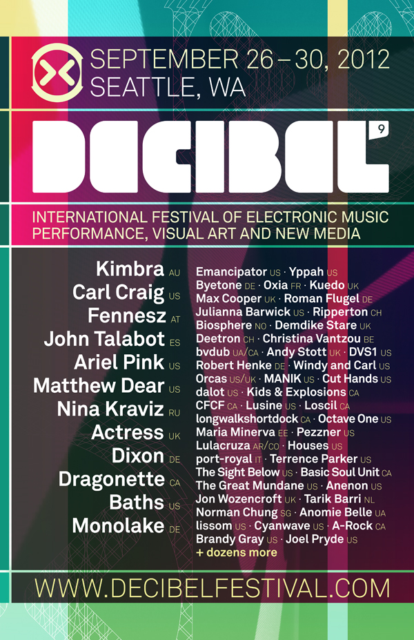 dB2012 First Wave Of Decibel Festival 2012 Acts Announced